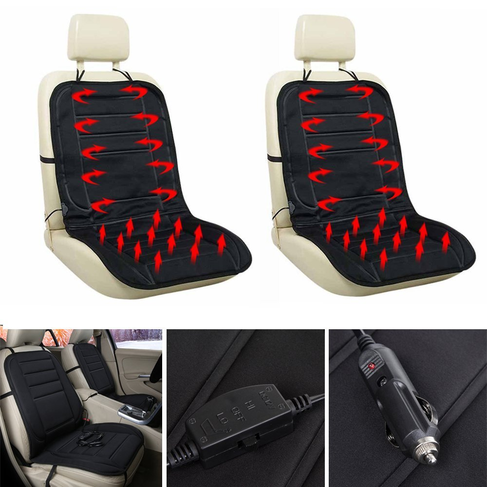 Littleducking 6766300616054 Car Seat Heating Pad Car Seat Heated Cushion Black