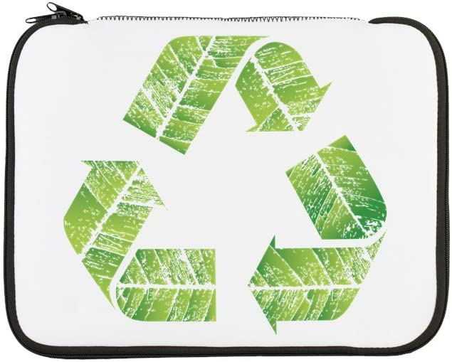 13 Inch Laptop Sleeve Recycle Symbol in Leaves