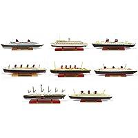 Atlas Conjunto de 8 cruceros transatlánticos: Titanic Francia