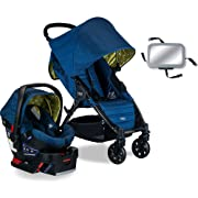 Britax Pathway & B-Safe 35 Travel System with Back Seat Mirror - Connect