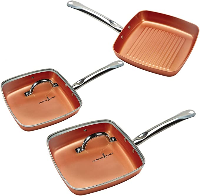 Copper pot Square 5 pc Set: Amazon.de: Küche & Haushalt