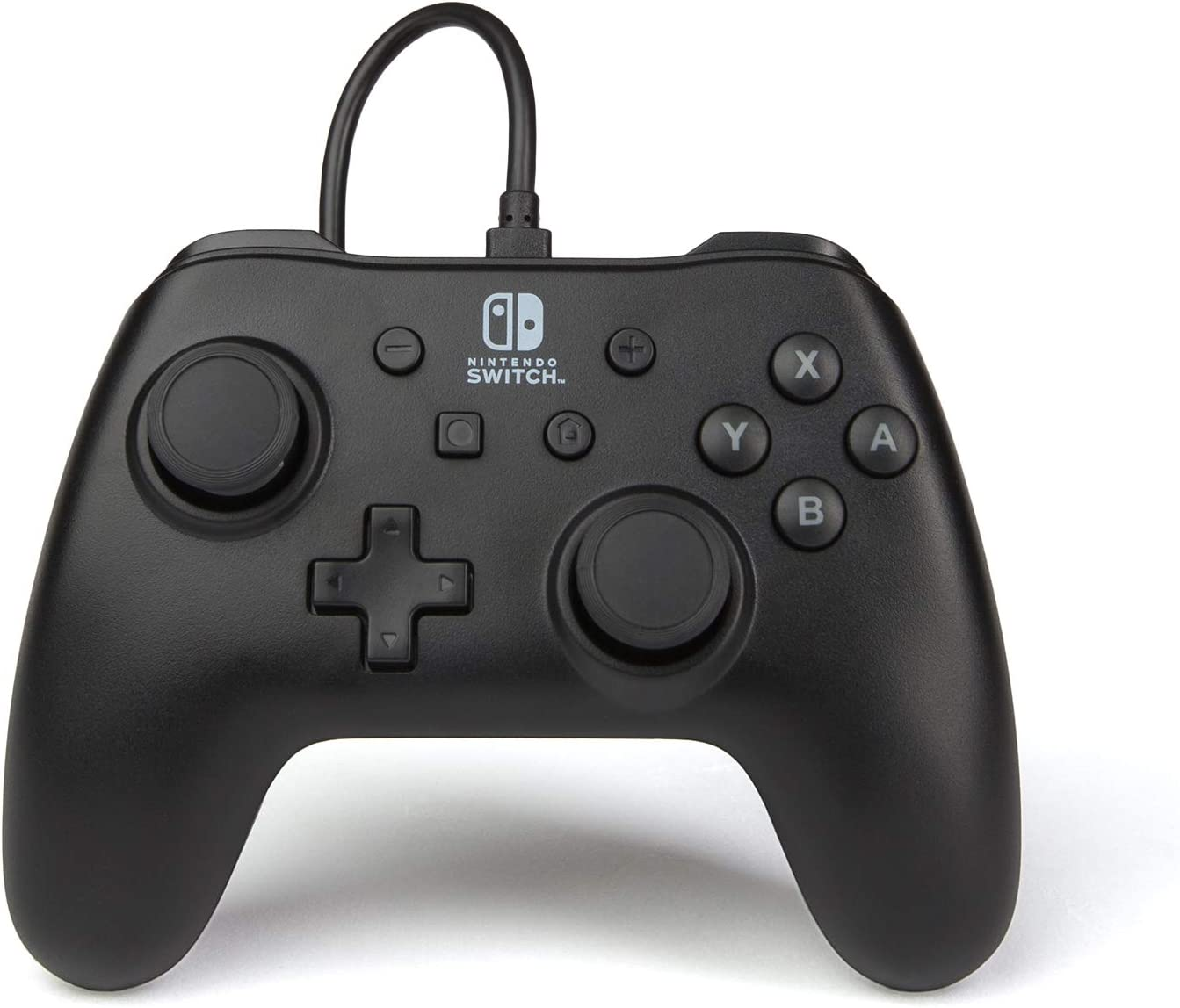 PowerA Mando con cable para Nintendo Switch: Negro Mate: Amazon.es ...
