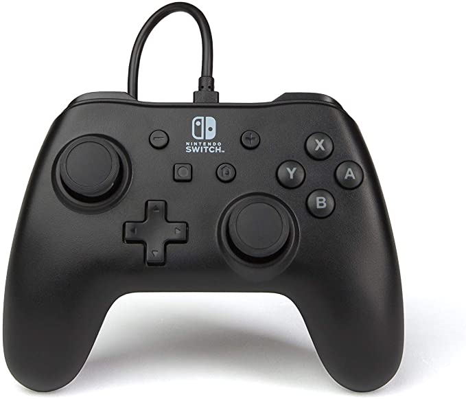 PowerA Mando con cable para Nintendo Switch: Negro Mate: Amazon.es ...