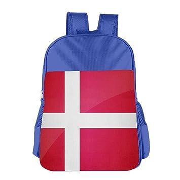 Nacional Bandera de Dinamarca personalizados - Mochila para niños mochila escolar Childeren mochila escolar: Amazon.es: Hogar