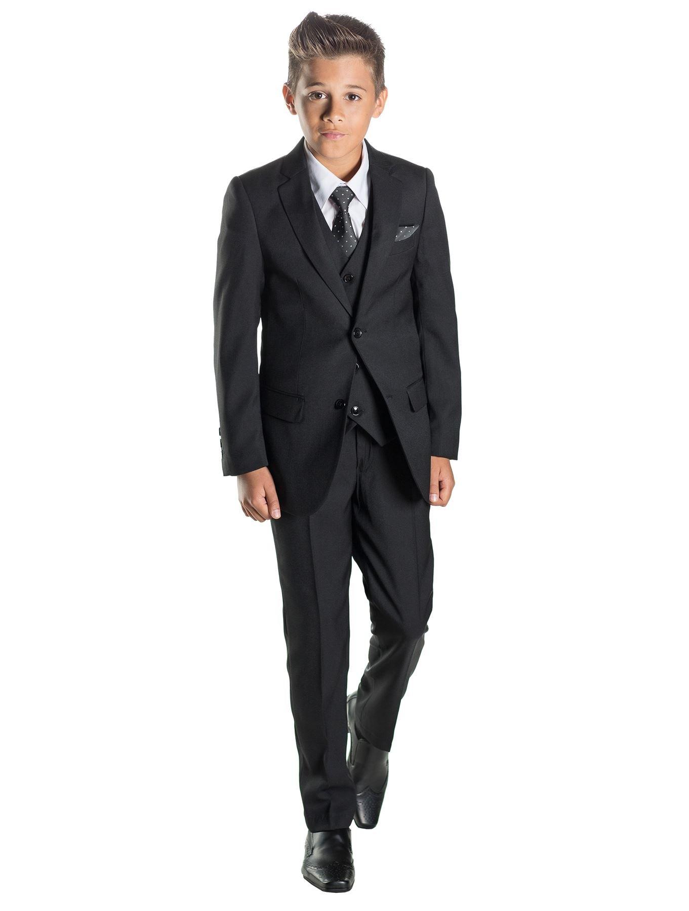 Paisley of London Boys Black Ring Bearer Suit, 12