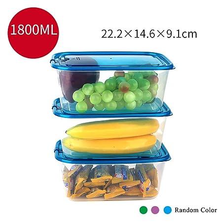 XXLCJ Recipientes para Cereales Recipientes for Alimentos 3 Square ...