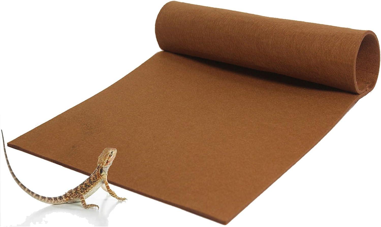 Hamiledyi Reptile Coconut Fiber Carpet Natural Tortoise Mat Pet Terrarium Liner Reptile Supplies for Lizard Snake Chamelon Turtle Bedding Rabbit Bunny Mat,