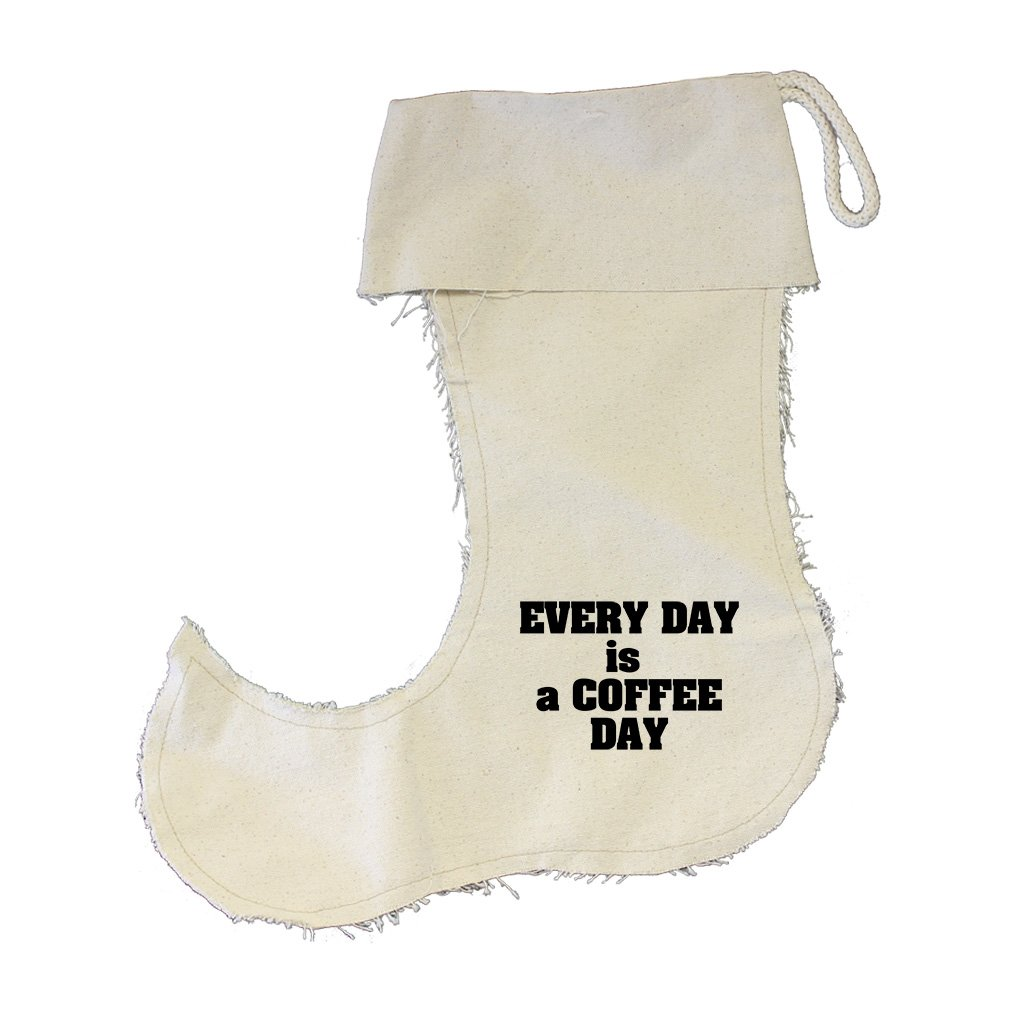 Every Day Is A Coffee Day Cotton Canvas Stocking Jester - Small