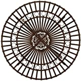 Oriental Furniture Rustic Garden Table - Rust Patina