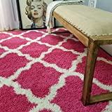 Maxy Home Bella Trellis Pink 6 ft. 7 in. x 9 ft. 3 in. Shag Area Rug Review