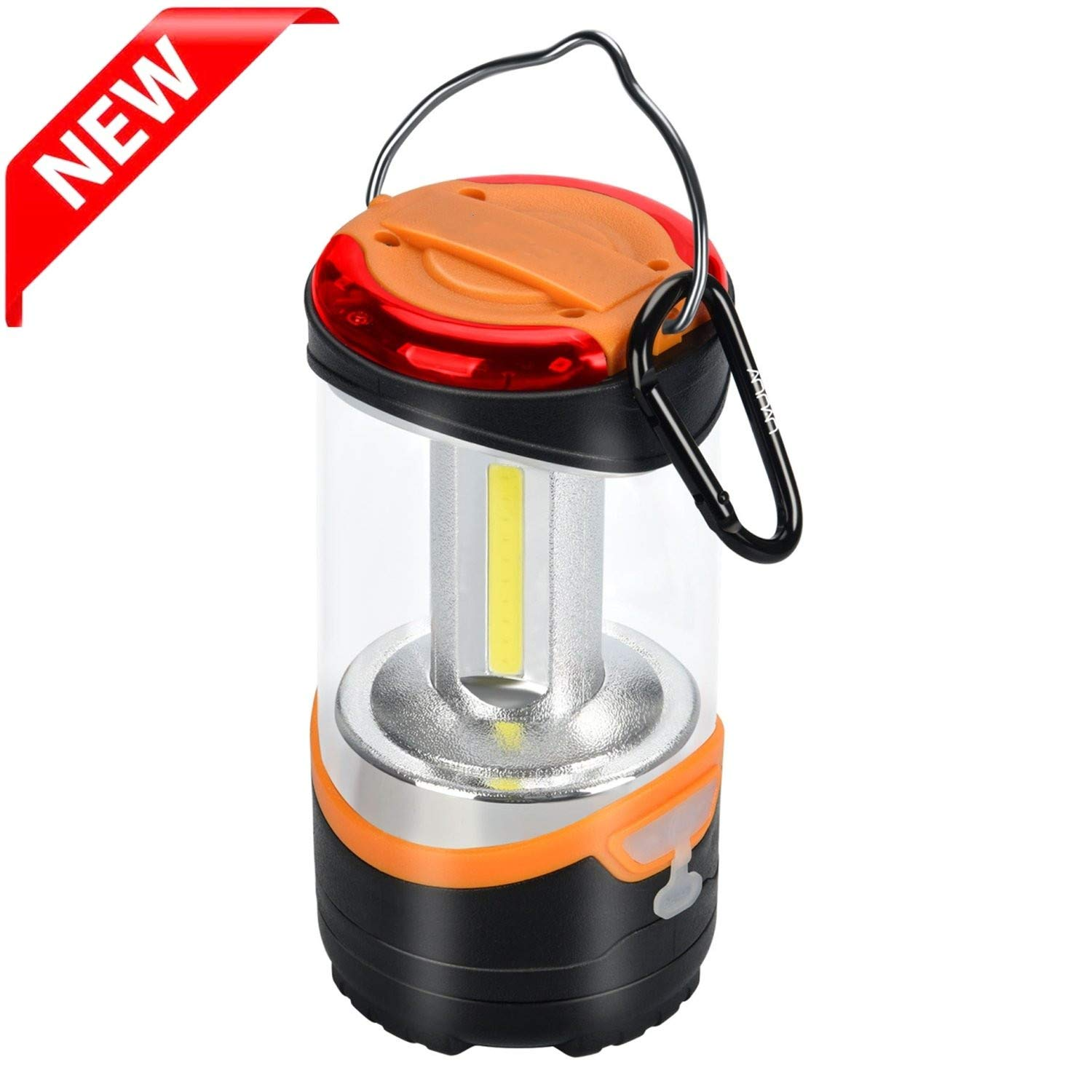 Youtree LED Camping Lantern Rechargeable Outdoor Tent Light with Portable Hook 3 Modes Include Red Flash Great for Hiking or Home Emergency Lighting Light