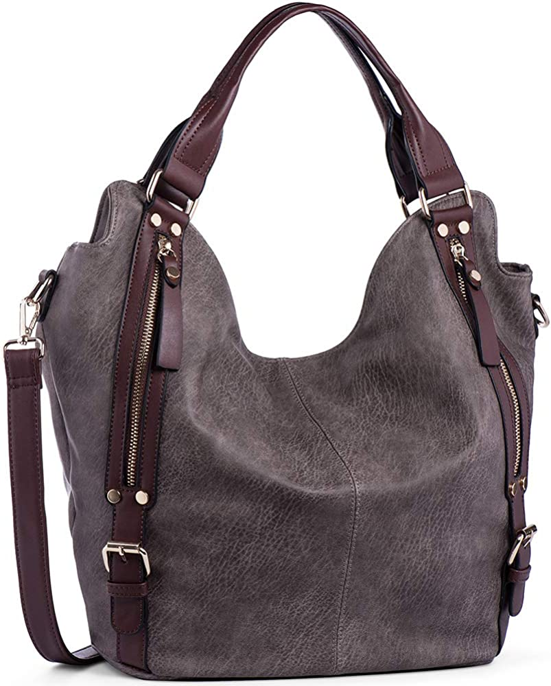 Big Capacity Hobo Bags Satchels Handbags Purses Top-Handle Bags Womens PU Leather Tote Shoulder Bag from GIFTT