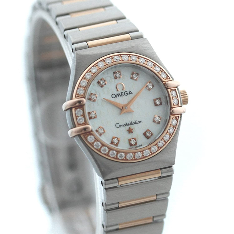 OMEGA(オメガ) コンステレーション レディース 腕時計 K18PG ステンレス ピンクゴールド シルバー ダイヤモンド クォーツ ウォッチ 1360.75[中古][並行輸入品] B07CK5R2PT