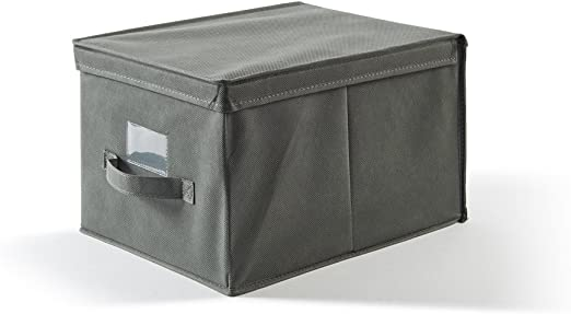 Perfetto Più EasyBox - Caja de Tela Color Ceniza, 30 x 40 x 25 cm: Amazon.es: Hogar