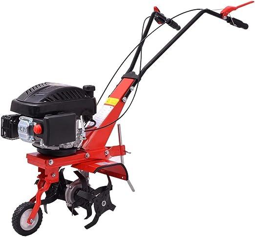 guyifuzhuangs Jardín Maquinaria de jardinería MotocultivadoresMotocultivador de Gasolina 5 HP 2,8 kW Rojo: Amazon.es: Hogar