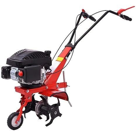 xinglieu coltivatrice mecánica a gasolina 5 HP 2,8 kw rossa. Cultivador manual Cultivador