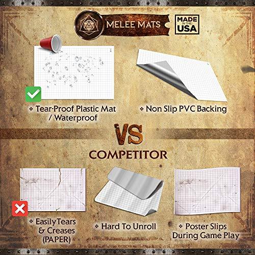 Battle Grid Game Mat Ultra Durable Polymer Material