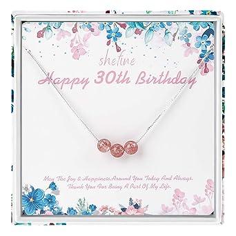 Regalo de 30 cumpleaños para mujer - Collar de plata de ley ...