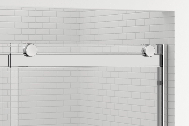 Basco Rtla05b6070xpbn Rotolo Sliding Shower Door Brushed Nickel 56 60 In Wide X 70 In High Aquaglidexp Clear Amazon Com
