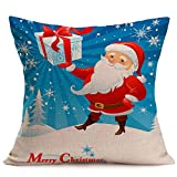 Quelife New Merry Christmas Linen Sofa Cushion Cover Home Decoration Merry Christmas Christmas Pillowcase Sale Prmotion