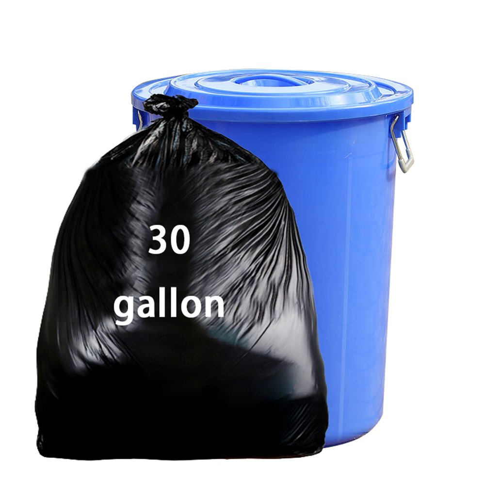 Nicesh 30ガロン 屋外用ゴミ袋 65枚 ブラック B07MXRZW3J