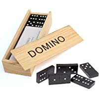 Simple Days Wooden Dominos Game - 28 Blocks Play Set
