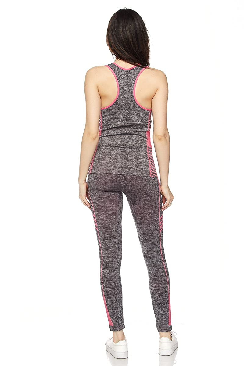 52c9ef301e New Mix By Muskoka Marled Ombre Activewear Set (Black): Amazon.ca: Clothing  & Accessories