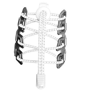 Canwn [2 Pares] Cordones Elásticos para Zapatos, Atar y Sin Nudo Reflexivo Cordones