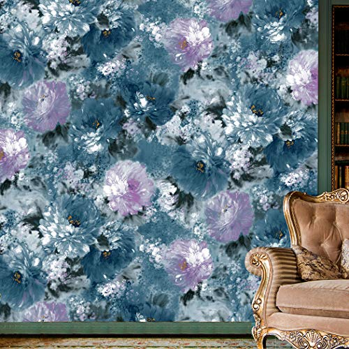 Painting Wallpaper - 6145 Watercolor Painting Wallpaper Rolls, Oil Painting Wallpaper Bedroom Living Room Hotel Wall Decoration 20.8