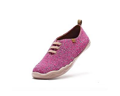 UIN Chaussure de Loafer colorée de canevas Vela des femmes Jaune (39) ptk9gR