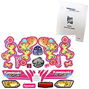 Power Wheels P5066 Barbie Kawasaki KFX Decal Sheet #P5066-0311 Bundled With Use & Care Guide