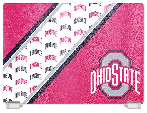 NCAA Ohio State Buckeyes Tempered Glass Cutting Board with Display Stand