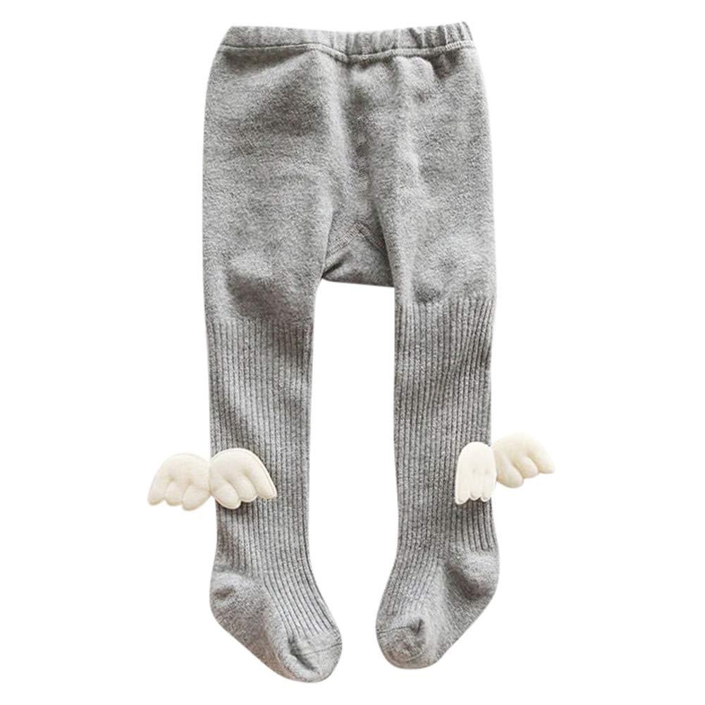 Hatoys Baby Girl Elastic Striped Bowknot Panty-Hose Leggings Warm Stockings