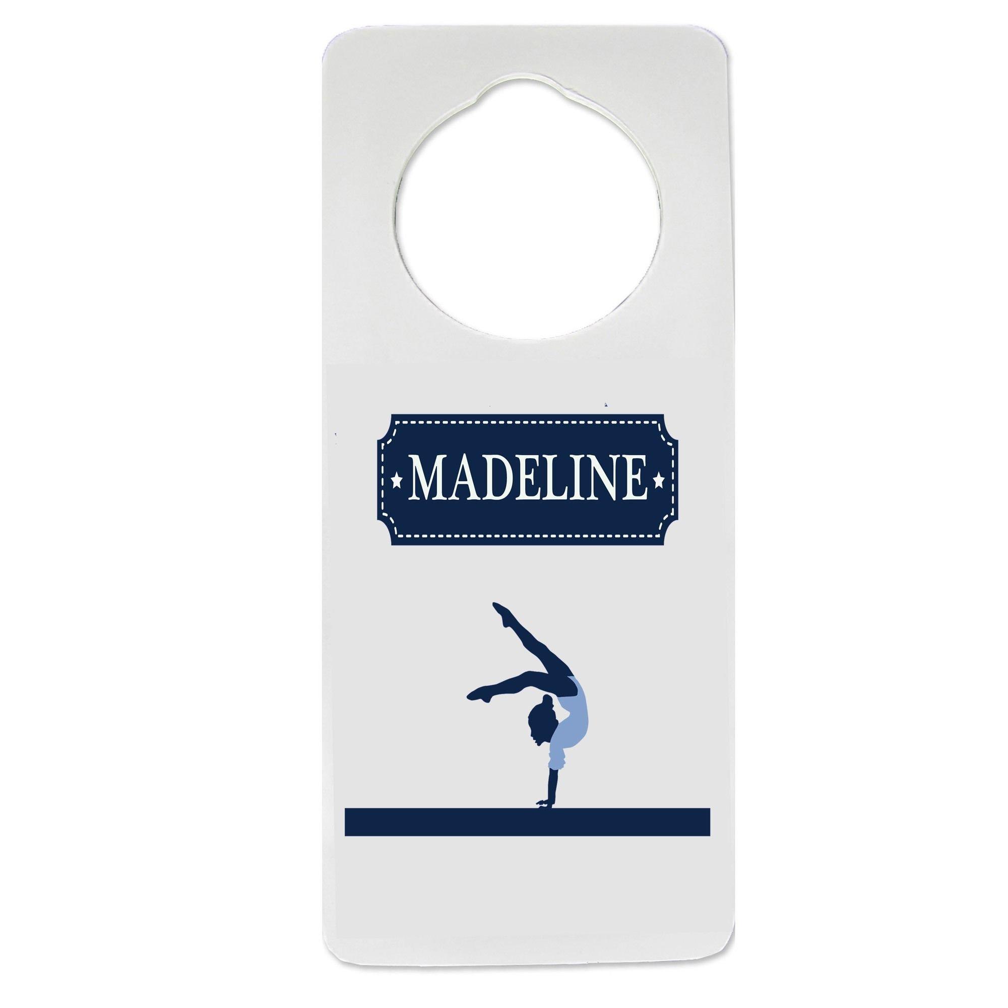 Personalized Gymnastics Nursery Door Hanger