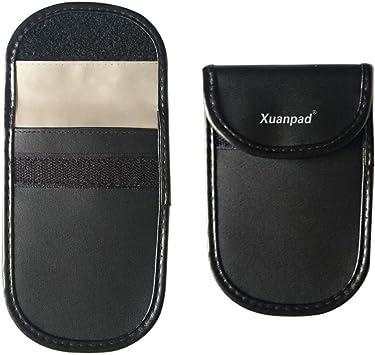 Estuche bloqueador de señales de apertura/cierre del coche de Xuanpad,dispositivo de bloqueo antirrobo, bloqueo de volante y protección de privacidad para el teléfono móvil (negro): Amazon.es: Electrónica
