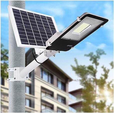 Rmckj-M Luz Solar Exterior Impermeable IP65 LED Farola Solar 50W~400W,con Soporte Ajustable Y Control Remoto/Sensor Crepuscular Luces De Jardín,para Calle Patio Jardín (1 Piezas),400W: Amazon.es: Hogar