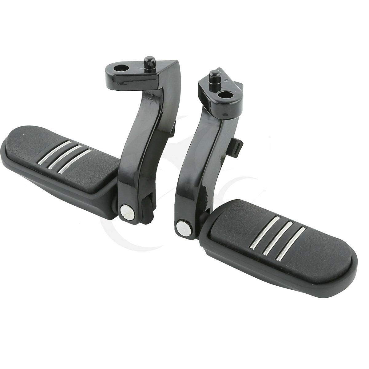 XFMT Foot Pegs Pedals W/Brackets Compatible with Harley Davidson Touring FLHT FLHR FLTR FLHX 1993-2020 (Replaces HD# 50198-97B) by XFMT