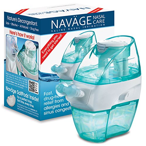 Naväge Nasal Care Starter Bundle: Naväge Nose Cleaner and 18 SaltPods, plus New User Starter Gift of 10 SaltPods