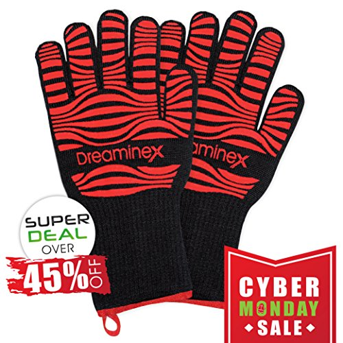 Cyber Monday Sale: Over 45% Off - Heat Resistant Gloves. Extra Long. Certified: up to 932F. Aramid Fiber &...