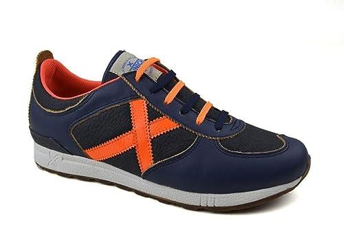 Zapatillas Munich Futura Marino/Naranja 44 Marino: Amazon.es: Zapatos y complementos