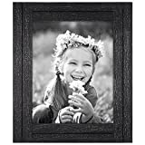 Cheap Americanflat 8×10 Charcoal Black Distressed Wood Frame – Made to Display 8×10 Photos – Ready to Hang – Ready to Stand with Built-in Easel