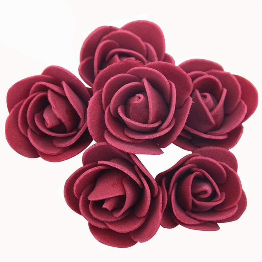 50Pcs 3.5Cm Artificial Foam Rose Heads Flower for DIY Wreath Home Wedding Decoration Fake Flower Handmade Accessories,Mix