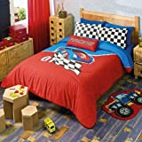 LIMITED EDITION RACE CARS TEENS BOYS REVERSIBLE COMFORTER SET 4 PCS FULL SIZE
