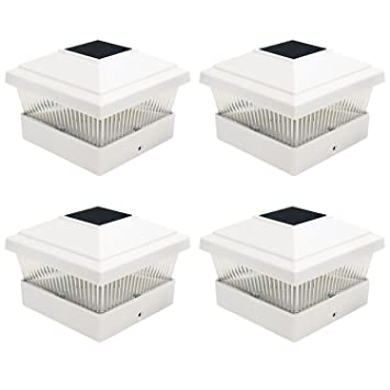 Solar Post Cap Lights Outdoor Solar decking post lights uk led deck lights a waterfront deck 4 x white solar powered outdoor garden post deck cap square fence workwithnaturefo