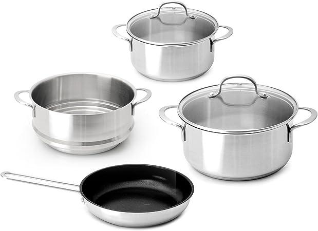 Cook Co By Berghoff Batterie De Cuisine En Acier Inoxydable 18