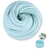 Fluffy Slime - Meland 6 OZ Baby Blue Jumbo Fluffy Floam Slime Stress Relief Toy Scented Sludge Toy for Kids and Adults, Super Soft and Non-sticky, ASTM Certified