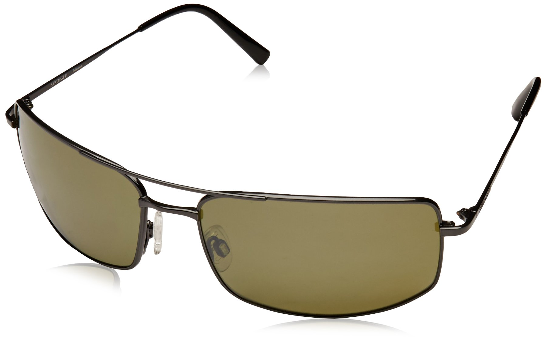 Serengeti 8303 Treviso Sunglasses, Shiny Dark Gunmetal Frame, Polarized 555nm Lens
