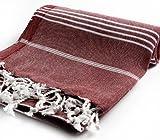 Cacala Pestemal Turkish Bath Towels 37x70%100 Cotton Burgundy