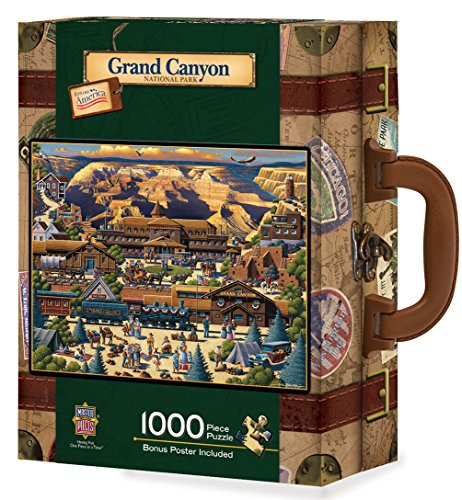 (MasterPieces Travel Suitcases Grand Canyon Jigsaw Puzzle, Art by Eric Dowdle, 1000-Piece)