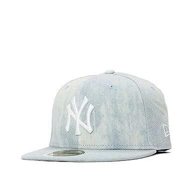 db286020ac7e0 (ニューエラ) NEW ERA キッズ キャップ 59FIFTY タイダイ デニム MLB ニューヨークヤンキース ライトデニム KIDS